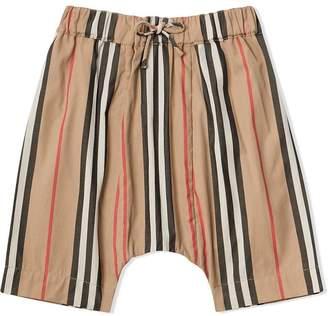 Burberry signature print poplin trousers