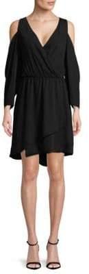 Rachel Roy Faux Wrap Cold Shoulder Dress