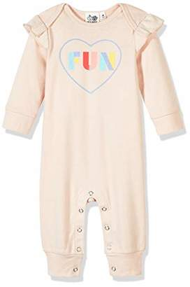 Silly Apples Baby Girls Cotton Blend Long-Sleeve Ruffle Romper Onesies (6M)