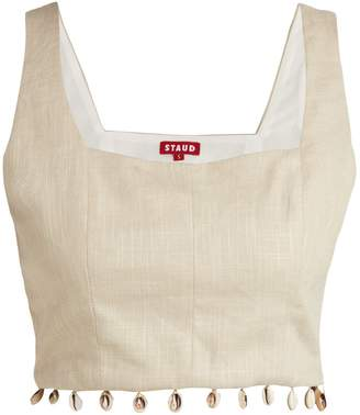 DAY Birger et Mikkelsen STAUD Fromer shell-trimmed linen-blend crop top