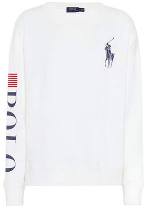 Polo Ralph Lauren Embroidered cotton-blend sweater
