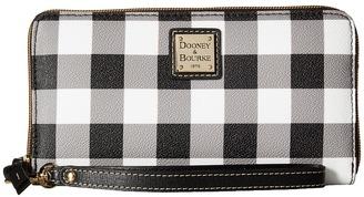 Dooney & Bourke Tucker Large Zip Around Wristlet $128 thestylecure.com