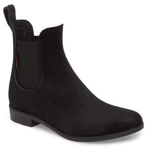 Chooka Waterproof Velvet Chelsea Rain Boot