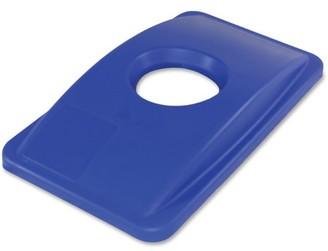 Thin Bin, IMP702511, Round Cut Out Blue Lid, 1 Each, Blue