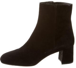 pradaPrada Suede Round-Toe Boots