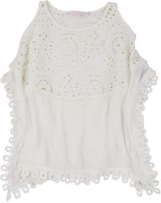 OndadeMar Kids' Embroidered-Eyelet Cotton Cover-Up