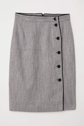 H&M Knee-length Skirt - Gray