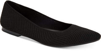 Alfani Women's Step 'N Flex Poppyy Pointed Toe Knit Flats, Created for Macy's