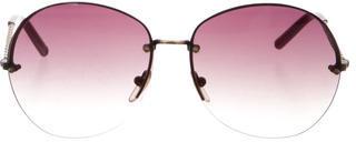 Bottega VenetaBottega Veneta Rimless Oversize Sunglasses