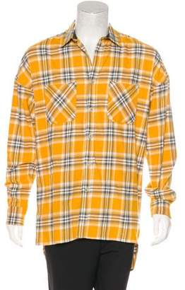 Fear Of God Plaid Silk-Lined Oversize Flannel Shirt