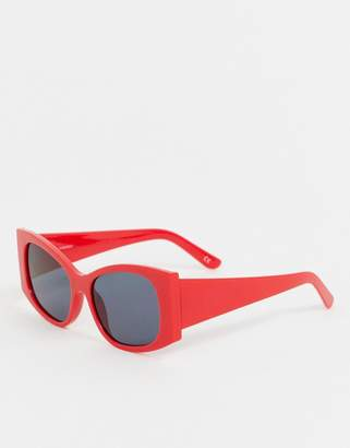 Asos Design DESIGN oversized angled square sunglasses