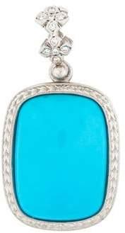 Loree Rodkin Platinum Turquoise & Diamond Pendant