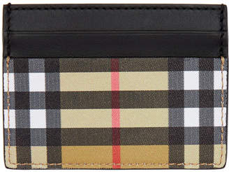 Burberry Black Vintage Check Sandon Card Holder