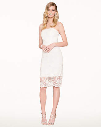 b890c6cde315 Le Château Lace and Pearl-Like Cocktail Dress