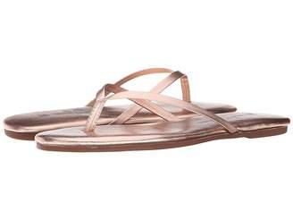 Yosi Samra Roee Metallic Leather Flip Flop Women's Sandals