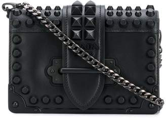 Prada studded Cahier cross-body bag