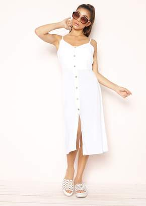 ec090eeead2 Missy Empire Missyempire Aires White Button Up Tie Back Dress