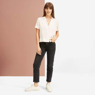Everlane The Clean Silk Short-Sleeve Notch Shirt