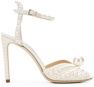 Jimmy Choo Sacora 100 pearl embellished pumps