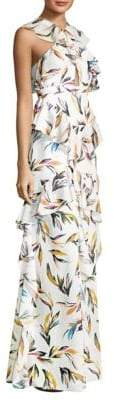 AMUR AMUR Women's Tessa Floral-Print Gown - White - Size 6