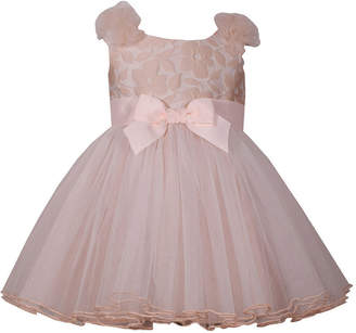 Bonnie Jean Sleeveless Front Bow Ballerina Dress - Baby Girls