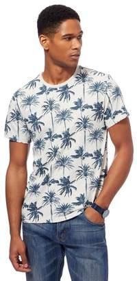 Red Herring Grey Palm Tree Print T-Shirt