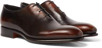 Santoni Burnished-Leather Oxford Shoes