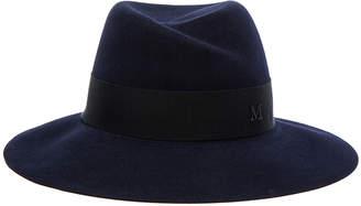 Maison Michel Virginie Felt Hat in Navy   FWRD