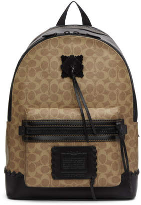 BEIGE Coach 1941 and Black Signature Academy Backpack