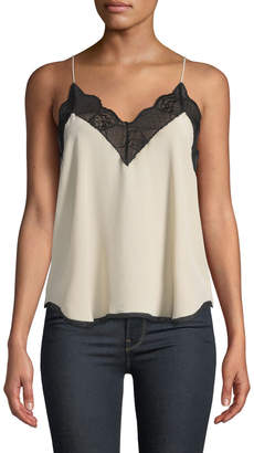 Zadig & Voltaire Christy Lace-Trim Silk Cami