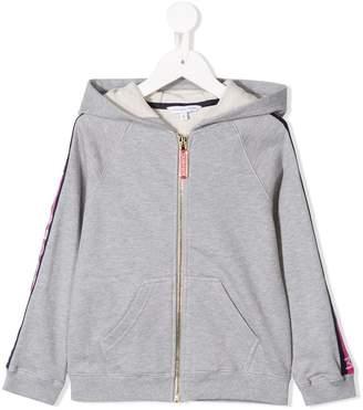 Little Marc Jacobs logo detail zip-up hoodie