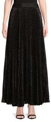 Haute Hippie Pleated Maxi Skirt