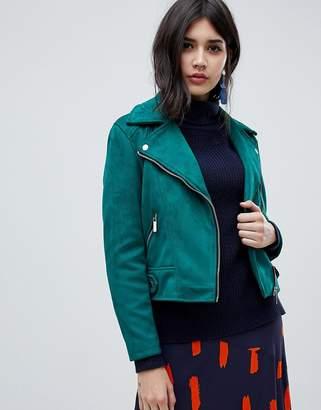 New Look Suedette Biker Jacket