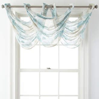 JCPenney JCP HOME HomeTM Corina Grommet-Top Sheer Waterfall Valance