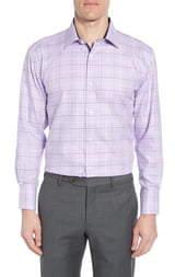 English Laundry Trim Fit Tattersall Plaid Dress Shirt