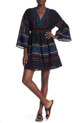 Joie Shada V-Neck Embroidered Knit Dress