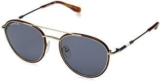 Lacoste Men's L102snd Metal Oval Novak Djokovic Capsule Collection Sunglasses