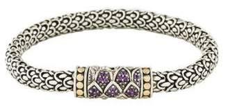 John Hardy Amethyst Naga Lava Medium Chain Bracelet
