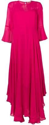 Twin-Set asymmetric ruffled crepe dress