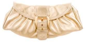 Celine Metallic Leather Clutch