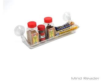 clear Mind Reader All Purpose Acrylic Storage Suction Shelf, Home, Kitchen, Bathroom,