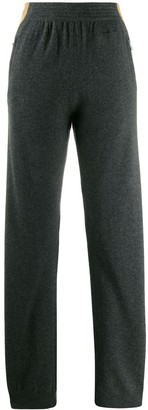 Givenchy side stripe knitted trousers