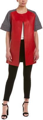 Pinko Ariano Leather-Paneled Coat