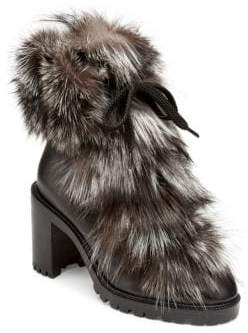 Christian Louboutin Fanny 70 Fur& Leather Booties