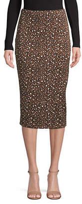 Max Mara Siamese Printed Midi Skirt