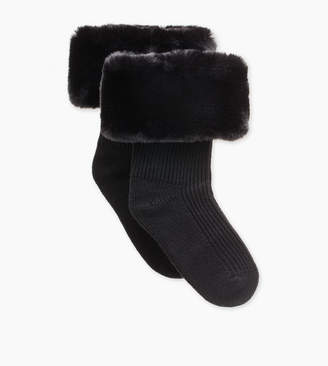 UGG Faux Fur Short Rainboot Sock