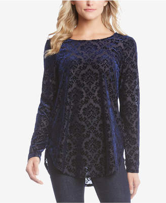 Karen Kane Flocked Velvet Top
