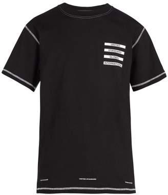 United Standard - Logo Print T Shirt - Mens - Black