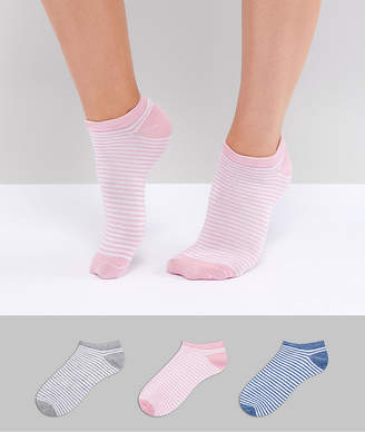 Fruit Cake Fruitcake 3 Pack Stripe Ankle Socks