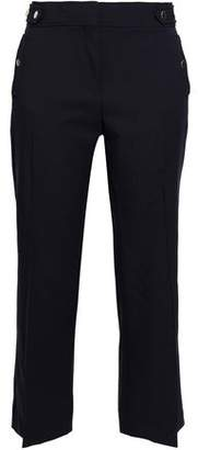 Vanessa Bruno Cropped Stretch-Wool Twill Bootcut Pants